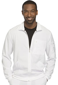 Men's Zip Front Jacket White (CK305A-WTPS)