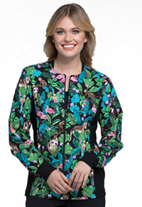 Cherokee Zip Front Knit Panel Jacket Tropical Tango (CK307-TRTG)