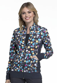 Flexibles Zip Front Knit Panel Jacket (CK308-PDGM) (CK308-PDGM)