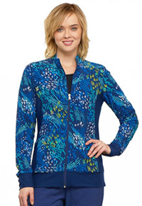 Flexibles Zip Front Knit Panel Jacket (CK308-WDCF) (CK308-WDCF)