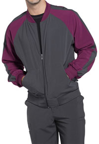 Cherokee Men's Colorblock Zip Up Warm-Up Jacket Pewter (CK330A-PWPS)