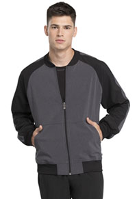 Men's Colorblock Zip Front Jacket Heather Charcoal (CK335A-HTCH)