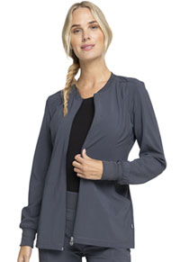 Cherokee Zip Front Warm-Up Jacket Pewter (CK370A-PWPS)