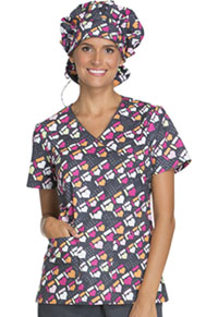Cherokee Unisex Bouffant Scrub Hat Got The Hearts For You (CK501-GHFY)