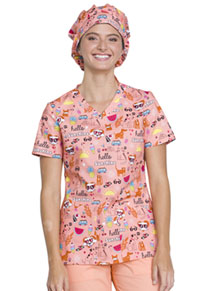 Cherokee Bouffant Scrub Hat Hello Sunshine Friends (CK501-HESU)