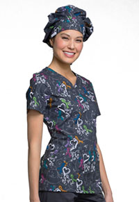 Cherokee Unisex Bouffant Scrub Hat We Are Aware! (CK501-WAWR)