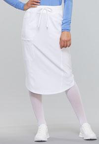 Cherokee Drawstring Skirt White (CK505A-WTPS)