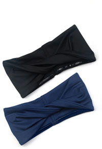 Cherokee So Twisted Headband - 2 pc pack Navy & Black Combo (CK506-NAVBLK)