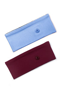 Cherokee Straight Up Headband With Buttons Ciel & Wine Combo (CK507-CIEWIN)