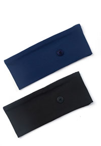 Cherokee Straight Up Headband - 2 pc pack Navy & Black Combo (CK507-NAVBLK)