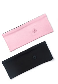 Cherokee Straight Up Headband - 2 pc pack Rose Blossom & Black Combo (CK507-RBSBLK)