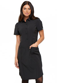 Cherokee 39 Button Front Dress Black (CK510A-BAPS)