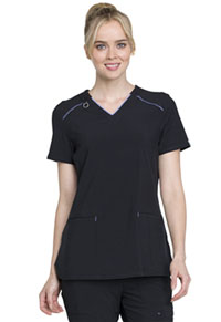 Cherokee V-Neck Top Black (CK520A-BAPS)