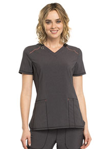 Cherokee V-Neck Top Heather Charcoal (CK520A-HTCH)