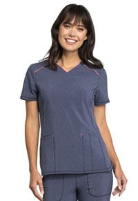Cherokee V-Neck Top Heather Navy (CK520A-HTNA)