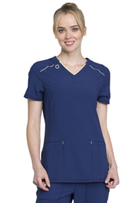 Cherokee V-Neck Top Navy (CK520A-NYPS)