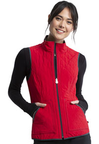 Cherokee Reversible Quilted Vest Heather Charcoal / Red Combo (CK530A-HTRO)