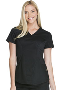 Cherokee Mock Wrap Top Black (CK603-BLKV)