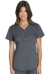 Cherokee Mock Wrap Top Pewter (CK603-PEWV)