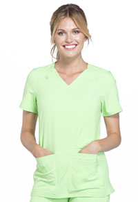 Cherokee V-Neck Knit Panel Top Green Zen (CK605-GRZN)