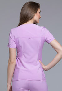 Cherokee V-Neck Knit Panel Top Lilac Love (CK605-LILE)