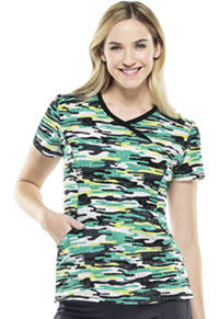 Cherokee Mock Wrap Top Camo Kind Of Love (CK608X3A-CKLV)
