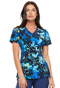 Cherokee Mock Wrap Top Barely Branches (CK608-BBHS)