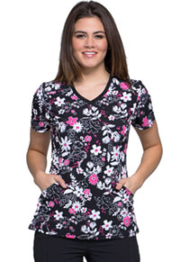 Cherokee Mock Wrap Top Bloom-tanical (CK608-BMTC)