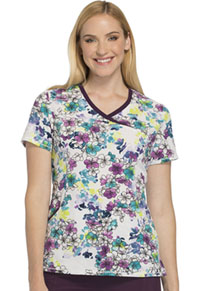 Cherokee Mock Wrap Top Botanical Blossoms (CK608-BOBN)
