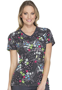 Cherokee Mock Wrap Top Circle Around Floral (CK608-CARF)