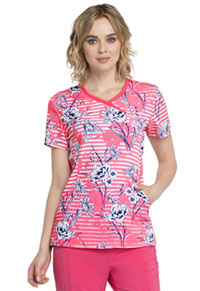Cherokee Mock Wrap Top Line Me Up Floral (CK608-LNME)