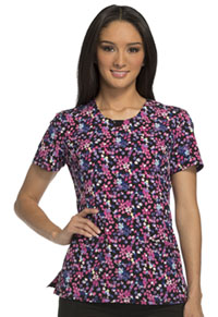 Cherokee Round Neck Top Berry Berry Floral (CK609-BBFR)