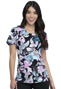 Cherokee Round Neck Top Feeling Floral (CK609-FGFL)