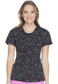 Cherokee Round Neck Top Keep Your Heart In Line (CK609-KEHT)