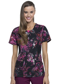 Cherokee Round Neck Top Night Garden (CK609-NIGD)