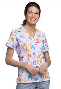Cherokee Mock Wrap Top All About The Babies (CK614-ABBY)