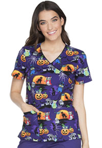 Cherokee Mock Wrap Top Owl Be Trick Or Treating (CK614-OWTT)