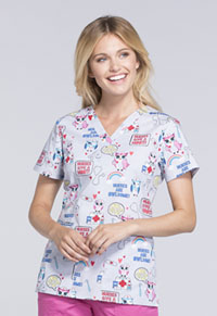 Cherokee V-Neck Top Nurses Are Owl-some (CK616-NSOL)