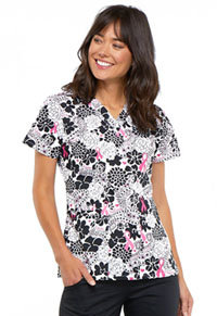 Cherokee Prints V-Neck Top (CK616-PYLV) (CK616-PYLV)