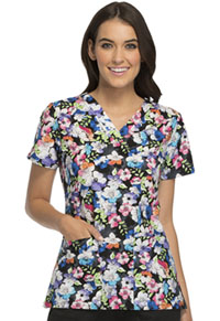 Cherokee V-Neck Top Street Floral (CK616-SFLL)