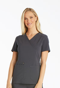 iFlex Mock Wrap Knit Panel Top (CK619-PWT) (CK619-PWT)