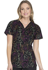 Cherokee Mock Wrap Top Floral In The Dark (CK620-FLDK)
