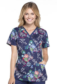 Cherokee Mock Wrap Top Floral Days (CK620-FLDY)