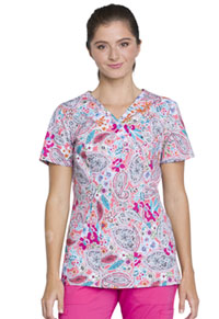 Cherokee Mock Wrap Top Paisley Perfection (CK620-PAIY)