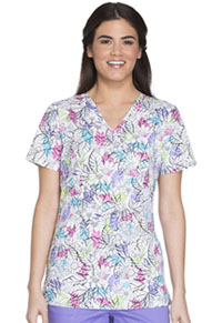 Cherokee Mock Wrap Top Please Don't Leaf Me (CK620-PLDL)