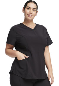 Cherokee V-Neck Top Black (CK623A-BAPS)