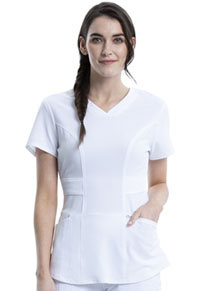 Cherokee V-Neck Top White (CK623A-WTPS)
