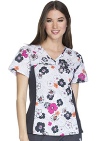Cherokee V-Neck Knit Panel Top Fleur You I Will (CK626-FYIW)