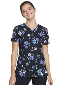 Cherokee V-Neck Top Bold Blossoms (CK634-BOBS)
