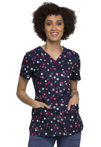 Cherokee V-Neck Top Dot's Cool (CK634-DTCL)